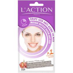 Masque visage anti-âge pré-imprégné au raisin - Tous types de peaux 24 g