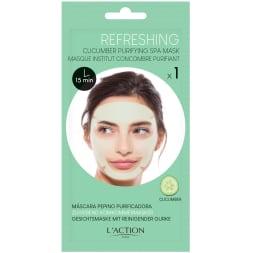 Masque purifiant au concombre pré-imprégné - 24 g