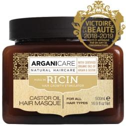 Masque fortifiant à l'huile de ricin bio – Tous types de cheveux - 500 ml