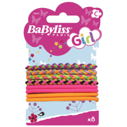 Élastiques à cheveux multicolores - Girl - 8 pièces