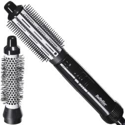 Brosse soufflante céramique 400 W - 2 accessoires - Cheveux mi-longs