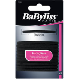 Élastiques à cheveux anti-glisse noirs - 9 pièces