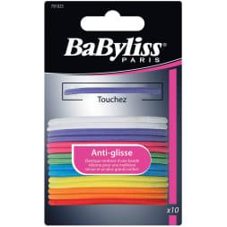 Élastiques à cheveux anti-glisse multicolores - 9 pièces