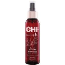 Lotion sans rinçage réparation & brillance à l'huile de rose musquée -  Cheveux colorés - 118 ml