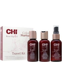 Coffret 3 soins à l'huile de rose musquée - Cheveux colorés - Format voyage