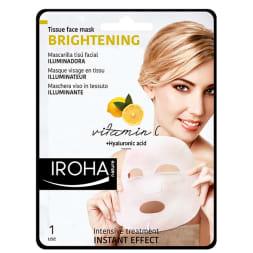 Masque en tissu anti teint terne à la vitamine C - Usage unique