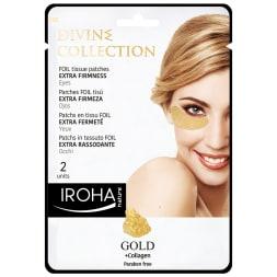 Patchs en tissu gold au collagène - Fermeté - Divine collection - Yeux - 2 patchs