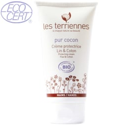 Crème protectrice mains bio - Lin et Coton - 75 ml