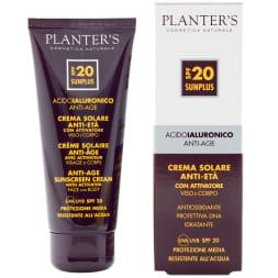 Crème solaire SPF 20 avec activateur de bronzage  - Tous types de peaux - 100 ml - Planter's