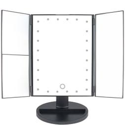 Miroir grossissant & lumineux make-up - 24 LED