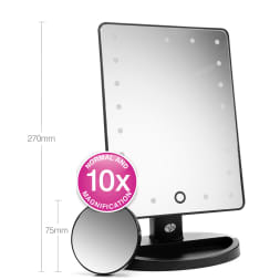 Miroir LED grossissant x10