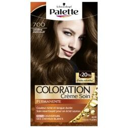 Kit coloration crème permanente - Palette - 700 Châtain chocolat