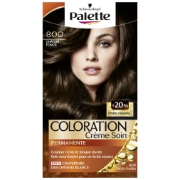 Kit coloration crème permanente - Palette - 800 Châtain foncé