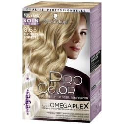 Kit de coloration permanente - Pro Color - 8.65 Blond clair noisette