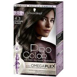 Kit de coloration permanente - Pro Color - 4.3 Châtain glacé