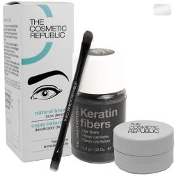 Kit à sourcils - Microfibres de kératine - Blanc