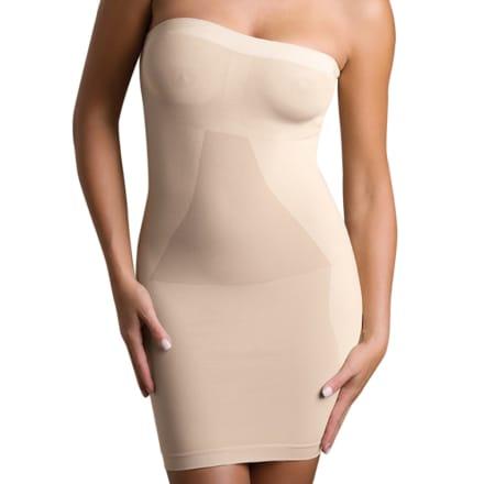 Beaute Privee Robe Bustier Gainante Beige Body Effect